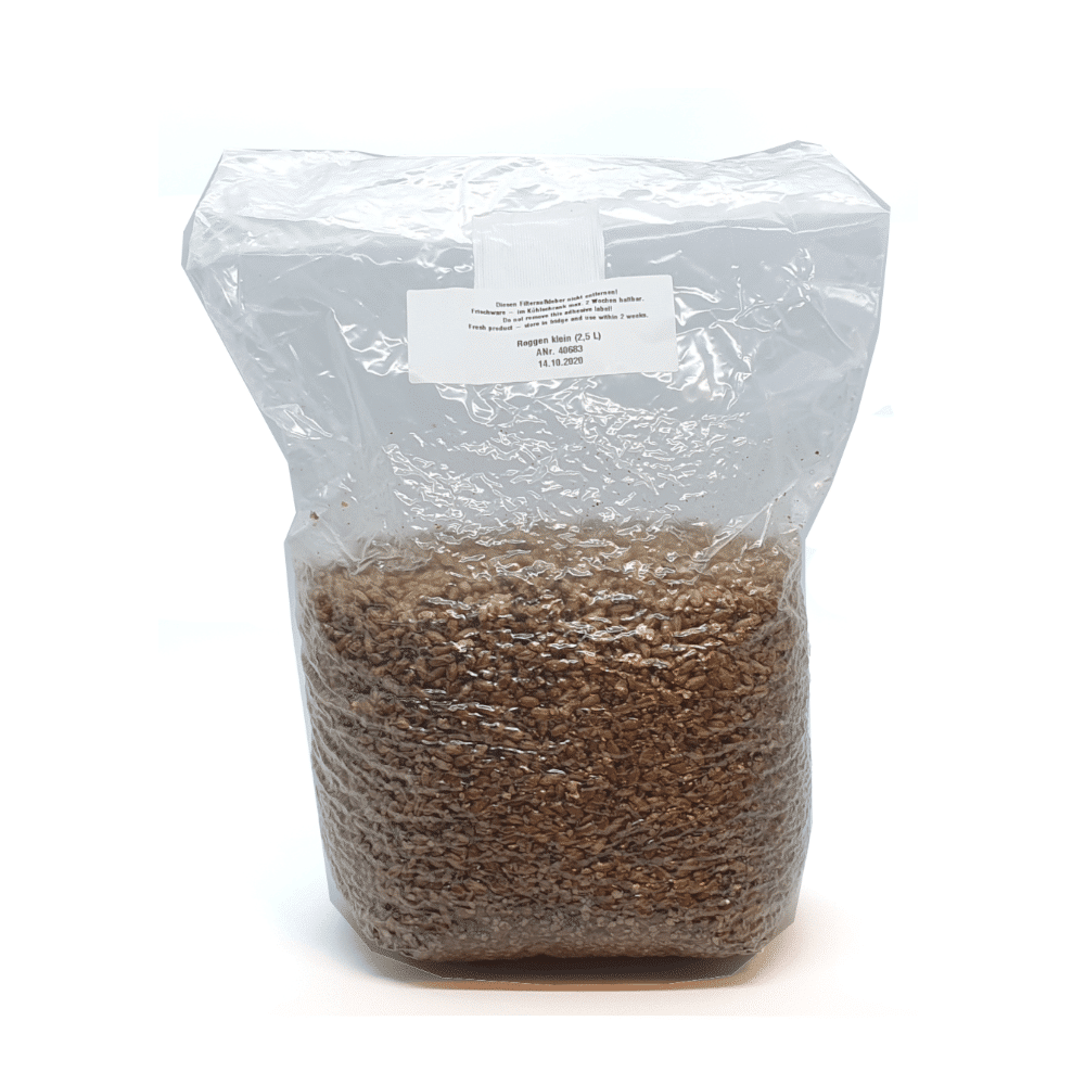 Sterilised Rye Grain x 6pcs
